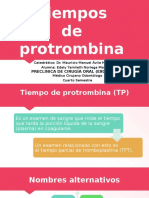 Tiempos de Protrombina & Tiempor Parcial de Tromboplastina