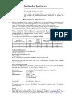 Individual Membership Form 2010-11
