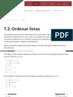 7.3. Ordenar Listas