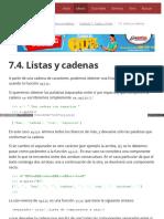 7.4. Listas y Cadenas
