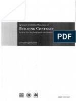 Agreement and Schedule of Conditions of Building Contract Without Quantities 2006