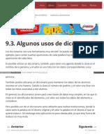 9.3. Algunos Usos de Diccionarios
