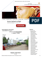 Kalpataru Hotel Shirdi, Address, Contact No, Tariff, Rooms Bookings