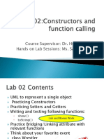 OOPs Lab 2 Constructors and ToString