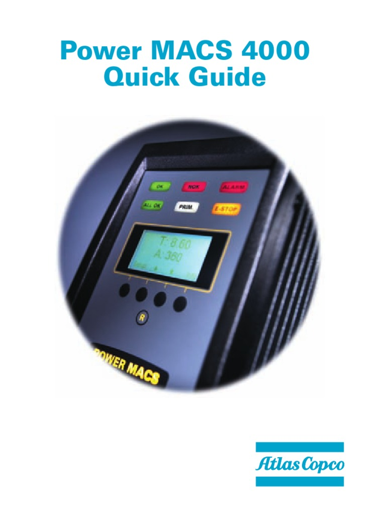 manual tester resume%0A Atlas Copco Power Macs      Quick Guide UK  pdf