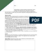 advertisement assignment sheet