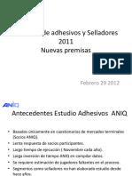 Mercado de Adhesivos y Selladores 2011