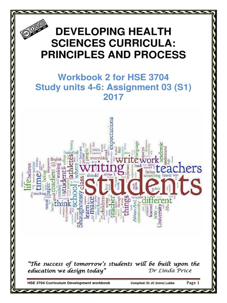 2017 workbook 2bassignment 2b03 2bsu4-6 1 | Curriculum | Questionnaire