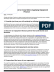 A Brief Look at Equipment Finance