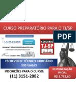 CURSO PREPARATÓRIO PARA O CONCURSO TJ/SP 2010 - ESCREVENTE TÉCNICO JUDICIÁRIO