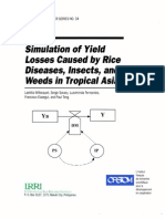 Simulation of Yield Losses Caused by Rice Diseases, Insects, And Weeds in Tropical Asia