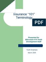 Insurance 101 Terminology