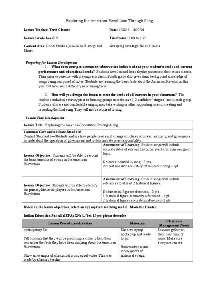 songs and music primary social studies
