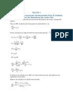 Obtención de Ecuaciones Variacionales Para El Análisis Térmico de Reactores de Lecho Fijo