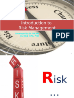 Introduction to Risk Management L 1