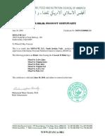 Monavie Halal Certification