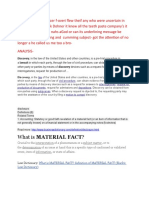Material Fact and Doctrine-On Culpability