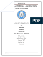 Project Land Law