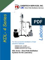 KDL-4 Brochure Wipped Film Distillator