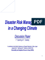 Disaster Risk  Management in Changing Climates