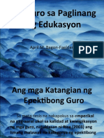 Ang Guro Sa Paglinang Ng Edukasyon
