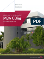 Usb Executive Development Mba Core Course Prospectus