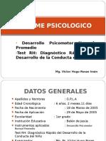 Informe Test Rh y Desarrollo Psicomotor