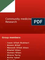 Community Medicine Research