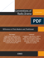 codes and conventions of radio drama