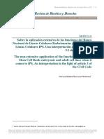 Sobre La Aplicacion Extensiva de Las Funciones Del Banco Nacional de Lineas Celulares Embrionarias y Adultas