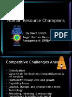 Dave Ulrich-Human Resource Champions
