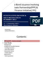Innovative Bond Issuance Involving Public Private Partnership and Private Finance Initiative