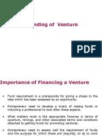 Funding of Venture