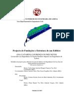 Projecto de Fundações e Estrutura de Um Edifício ISEL LISBOA 2013 Dissertação