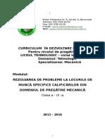 CDL Clasa a IX-A-Rezolvarea de Probleme La Locul de Munca