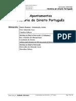 Historia Do Direito Portugues - Resumos