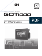 GT10 User's Manual Mitsubishi
