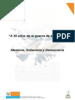 Agenda 35años de la Guerra de Malvinas