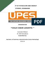 Cold Chain Logistic