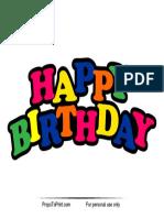 Happy Birthday Photo Booth Prop