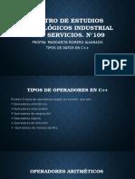 Tipos de Operadores C++