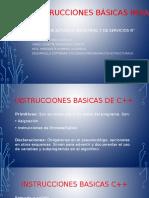 Instrucciones básicas para c++