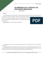 A HISTÓRIA DA IMPRENSA NO CONTEXTO DA HISTORIOGRAFIA BRASILEIRA