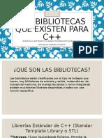 LAS BIBLIOTECAS QUE EXISTEN PARA C++