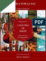 """Programa. Concierto Mozart """"Teogamentunt"""" por la Paz en el Mundo. Aula de Cultura de Cartagena"""