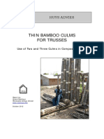 Thin Bamboo Culms for Trusses