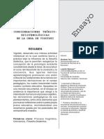 Consideraciones Teoricas Epistemologicas en La Obra de Vigotski