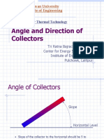 Angle and Direction of Collectors