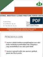 Ppt Regional Anestesi