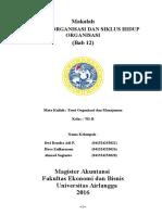 Ukuran Organisasi Dan Siklus Hidup Organisasi
